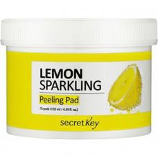 Диски ватные очищающие Secret Key Lemon Sparkling Peeling Pad, 70шт