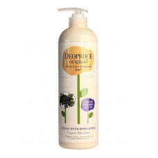 Шампунь-бальзам 2 в 1 черника DEOPROCE ORIGINAL SHINY CARE 2 IN 1 SHAMPOO BLUEBERRY, 1000ml