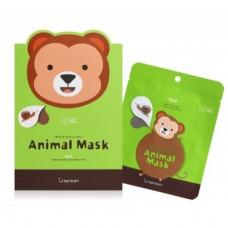 Маска тканевая с муцином улитки Berrisom Animal mask series - monkey