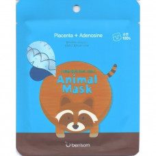 Маска тканевая с экстрактом плаценты Berrisom Animal mask series - raccoon