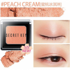 Тени для век моно Secret Key Fitting Forever Single Shadow #Peach Cream (Vivid Coral), 2,5гр