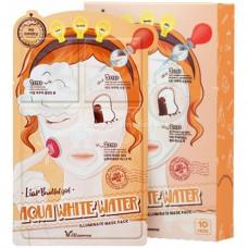 3-шаговая маска для лица увлажняющая Elizavecca 3-step aqua white water mask pack 25мл/2*2мл