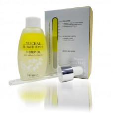 Масло для лица омолаживающее DEOPROCE Yu Chae Flower Honey 3-Step Oil, 30g