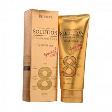 Пенка для умывания золото и вост.травы Deoproce NATURAL PERFECT SOLUTION CLEANSING FOAM GOLD, 170гр