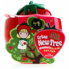 Маска для лица от расшир. пор Baviphat Urban Dollkiss New Tree Strawberry All-In-One Pore Pack, 100 мл