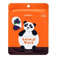 Маска тканевая экстрактом ежевики Berrisom Animal mask series - Panda