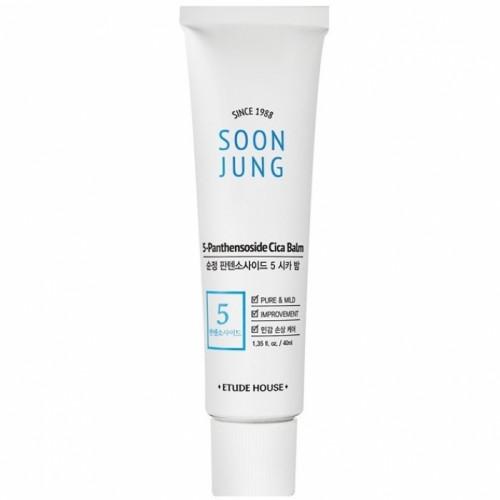 Бальзам для чувствительной кожи Etude House Soon Jung 5-Panthensoside Cica Balm, 15 мл