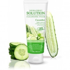 Пенка для умывания огурец NATURAL PERFECT SOLUTION CLEANSING FOAM GREEN EDITION CUCUMBER, 170g