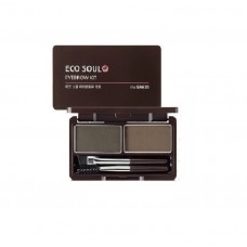 Пудра для бровей 02 The Saem Eco Soul Eyebrow Kit 02 Gray Brown 2*2.5 гр