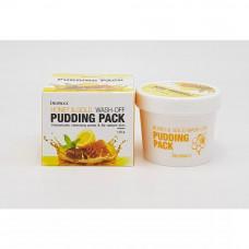 Маска для лица с медом и золотом DEOPROCE HONEY&GOLD WASH-OFF PUDDING PACK, 110гр