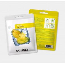 Выводящая токсины тканевая маска с экстрактом карамболы, 20мл, CONSLY