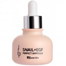 SS Snail+EGF Сыворотка для лица с экстрактом улитки SECRET SKIN SNAIL+EGF PERFECT AMPOULE 30мл