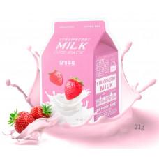 Тканевая маска с клубникой A'PIEU Strawberry Milk One Pack